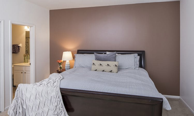 Spacious bedroom at The Woods at Polaris Parkway in Westerville, Ohio