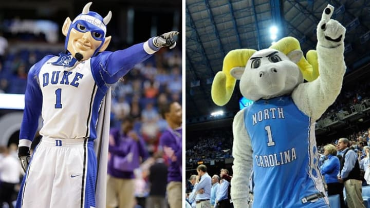 Duke UNC Mascots