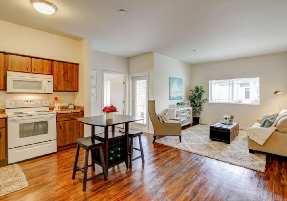 Roomy and spacious living area at LARC at Olympia in Olympia, Washington