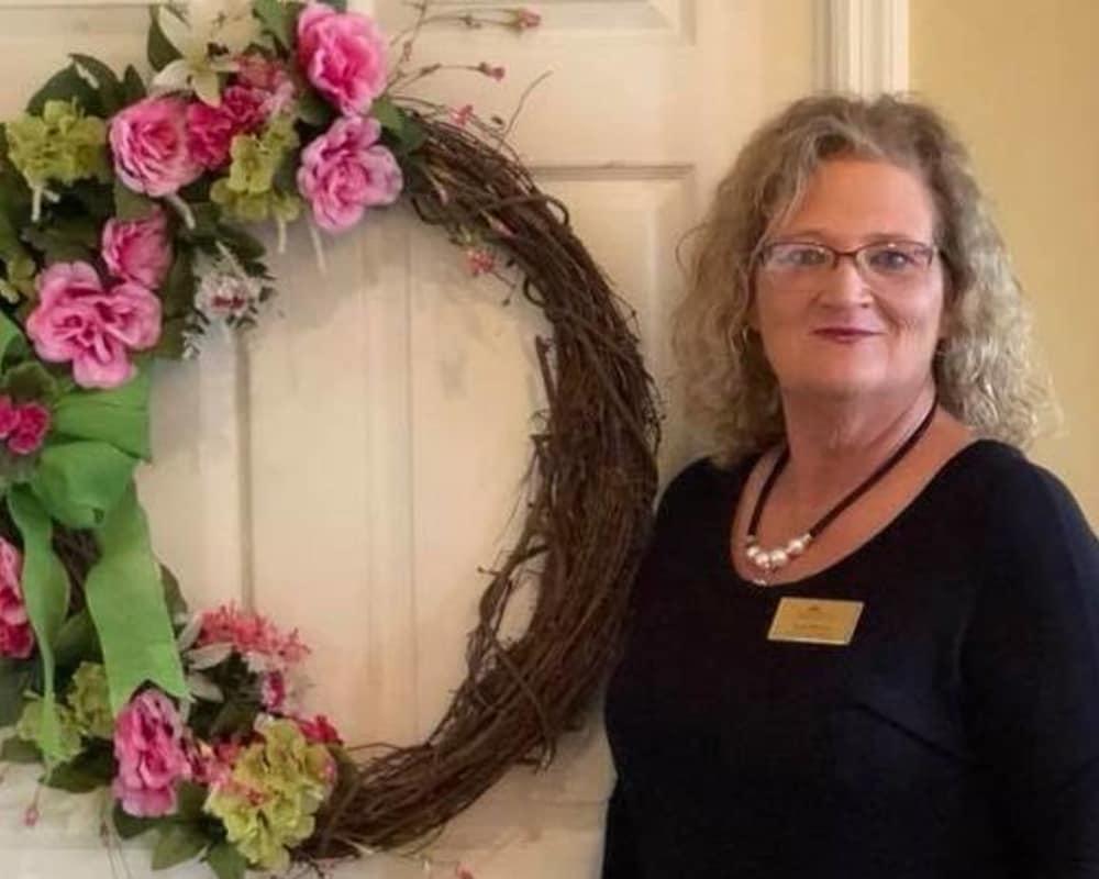 Staff and resident at Savannah Court of Lake Oconee in Greensboro, GA