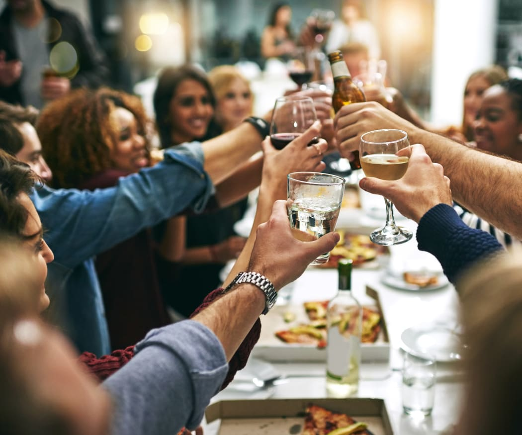 Residents at a nearby restaurant toasting to the good life near Ingleside Apartments in North Charleston, South Carolina