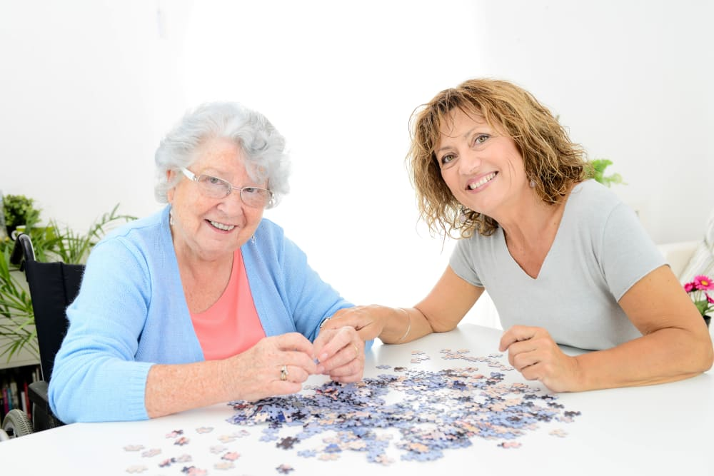 Resident of Rittenhouse Village At Hoover makes a puzzle