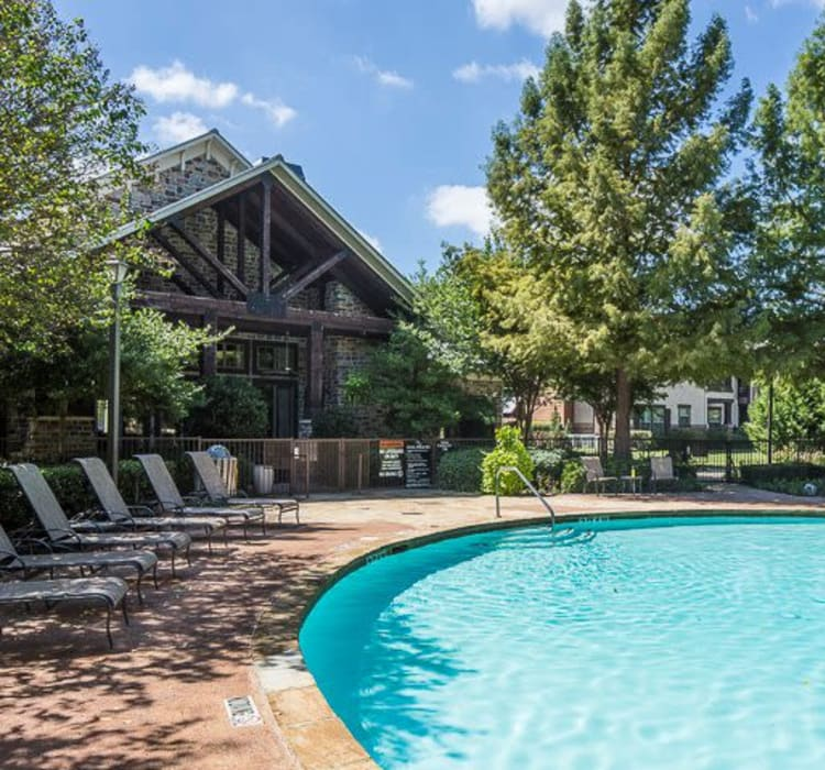 Swimming pool with a sundeck at Ranch ThreeOFive in Arlington, Texas