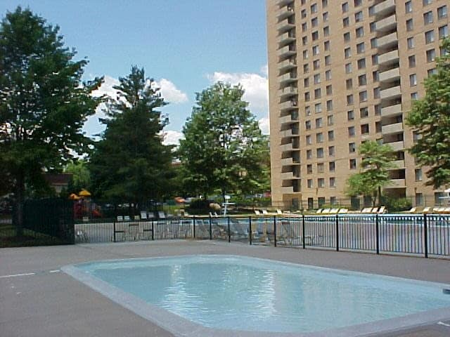 A swimming pool that is great for entertaining at apartments in Rockville, MD