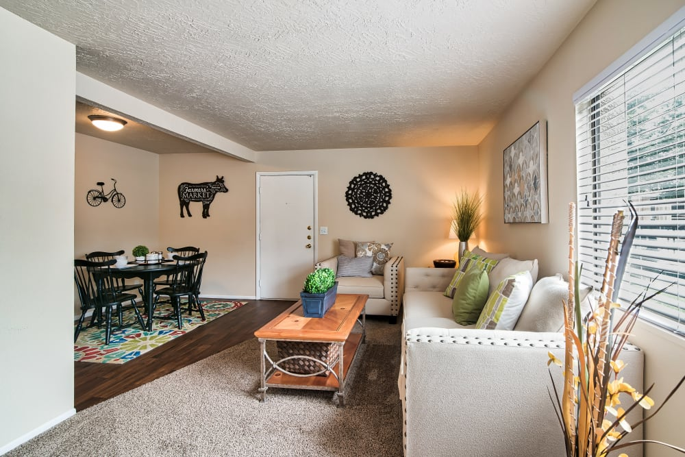 Living Room at Cherry Creek Apartments in Riverdale, UT
