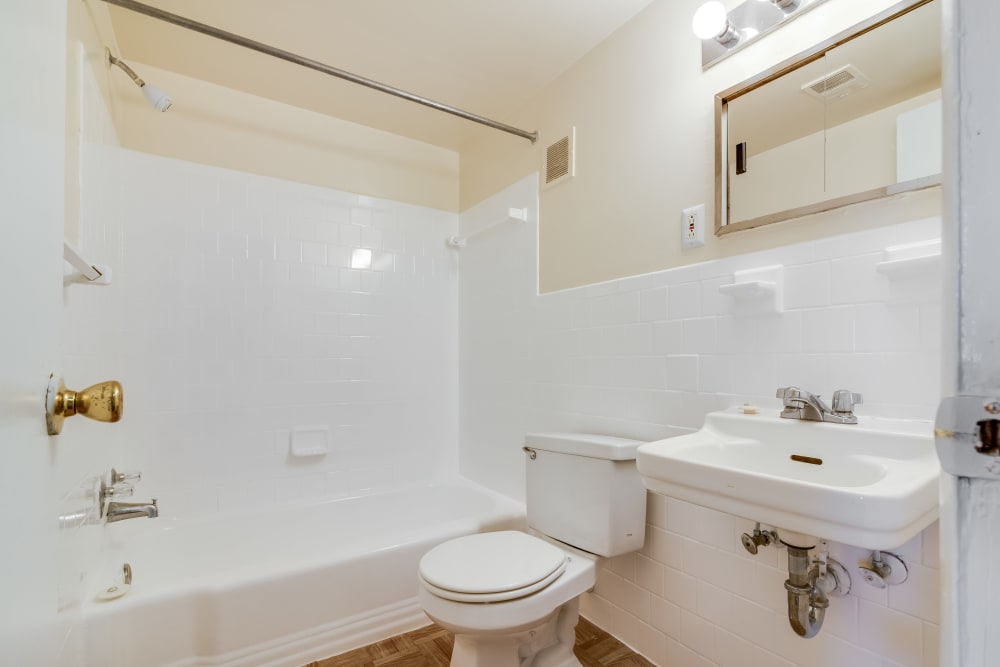 Bathroom at Parkway Gardens Apartments