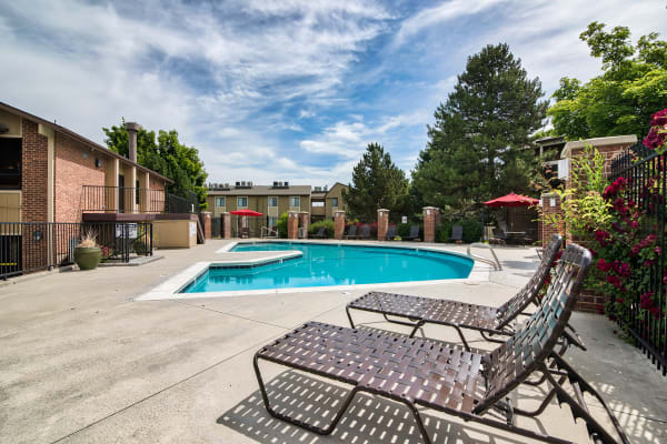 Swimming Pool at Cherry Creek Apartments in Riverdale, UT