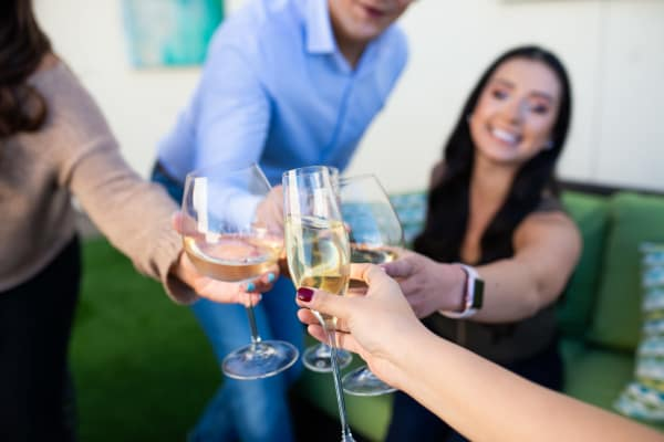 Residents raising a toast to the good life at Avant at Fashion Center in Chandler, Arizona