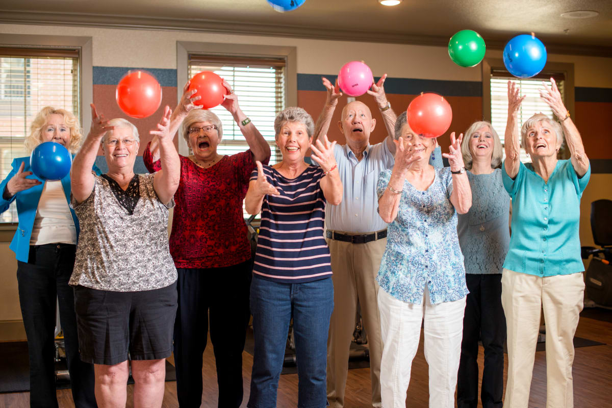 Happy residents at an Integrated Senior Lifestyles community