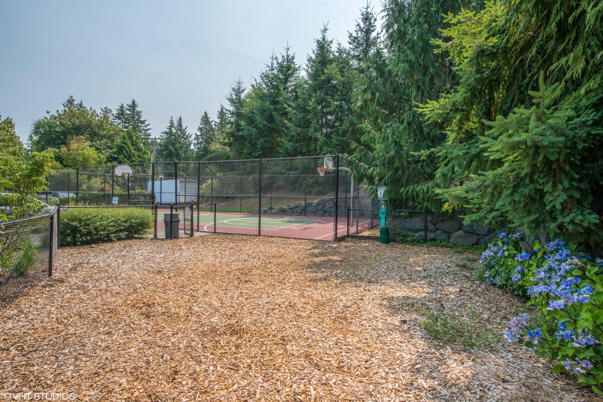 An onsite dog park at Brookside Village in Auburn, Washington