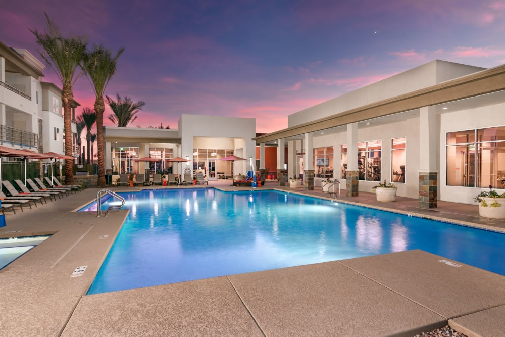 Beautiful swimming pool at Morrison Chandler in Chandler, Arizona