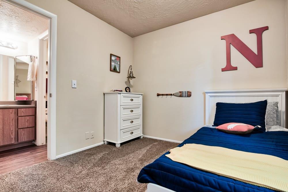 Bedroom at Apartments in Riverdale, Utah