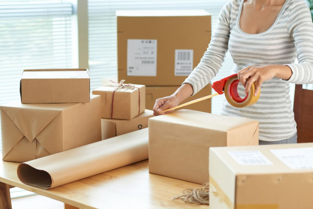 Packing boxes for Store It All Self Storage - Baltimore in Baltimore, Maryland