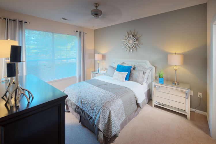 Comfy bedroom at Preston View in Morrisville, North Carolina