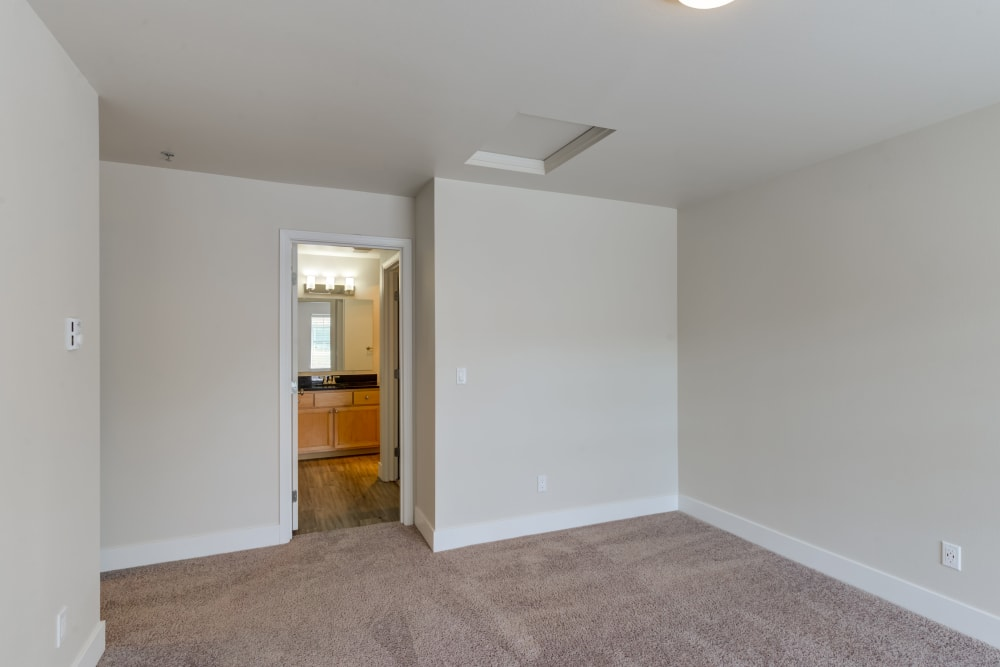 Plush carpeting in bedroom at Bradley Park Apartments in Puyallup