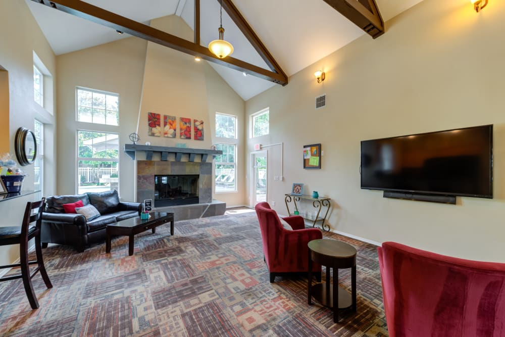 Beautiful clubhouse interior photo at Bradley Park Apartments in Puyallup, Washington