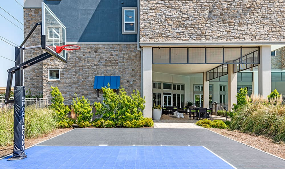 Beautiful basketball court at GreenVue Apartments in Richardson, Texas