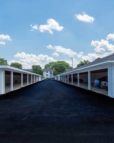 Carport parking at Wedgewood West in Rochester, New York