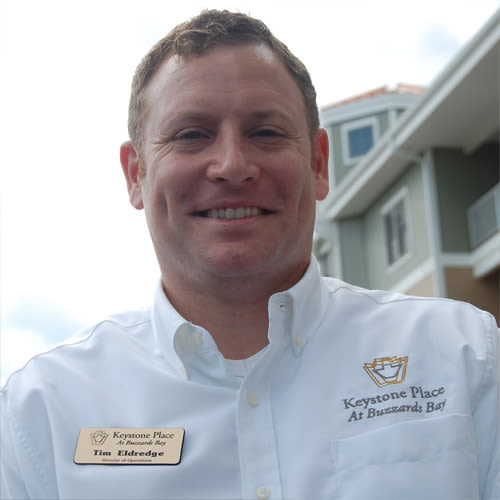 Tim Eldredge, Executive Director of Keystone Place at  Buzzards Bay in Buzzards Bay, Massachusetts