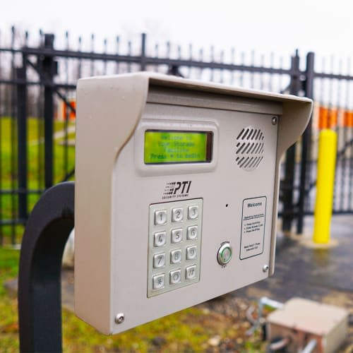 Secure keypad entrance at Red Dot Storage in Toledo, Ohio