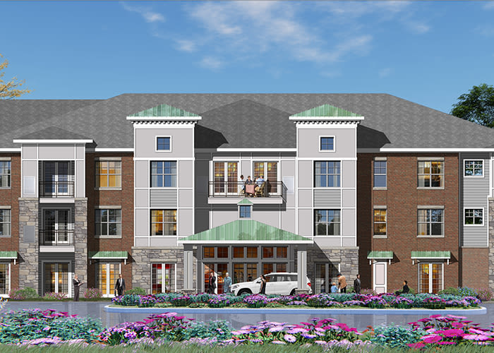 Exterior view graphic of Avenida Naperville in Naperville, Illinois