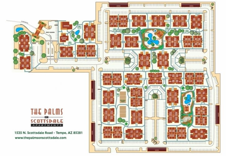 Site map for The Palms on Scottsdale in Tempe, Arizona