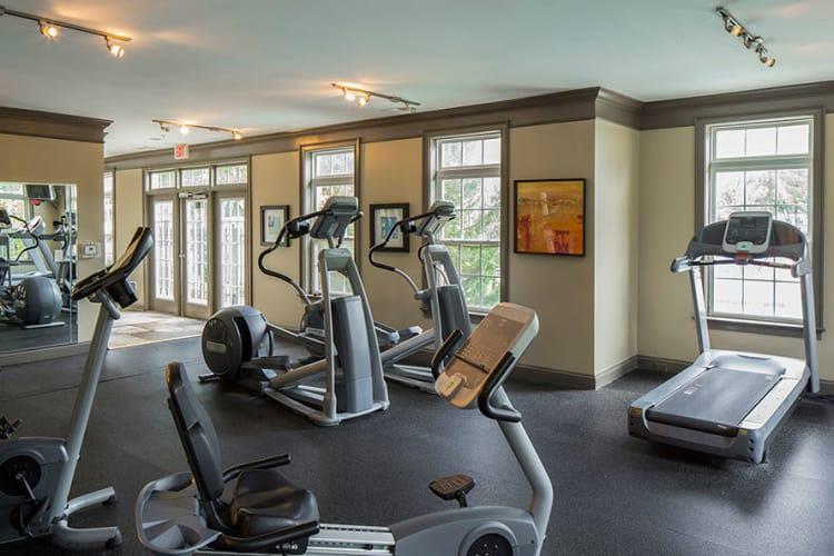 Fitness center at Worthington Luxury Apartments in Charlotte, North Carolina