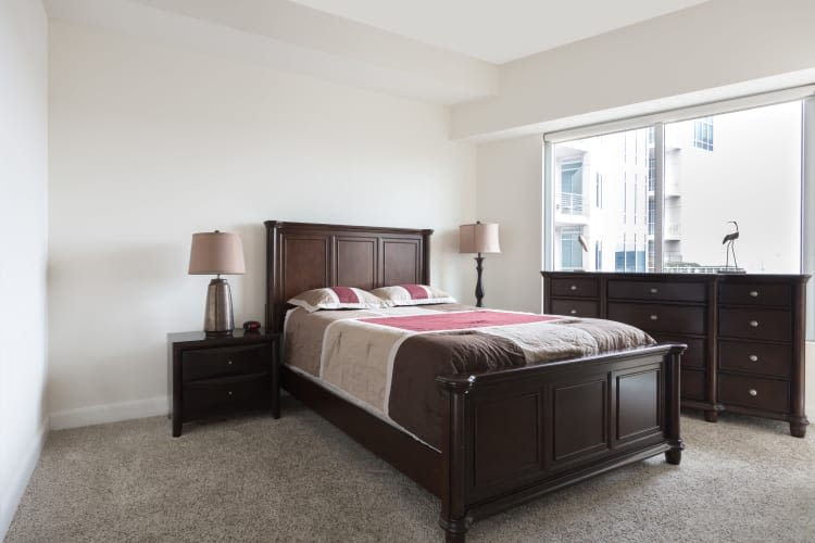 Model Bedroom at The Heights at Park Lane in Dallas, Texas