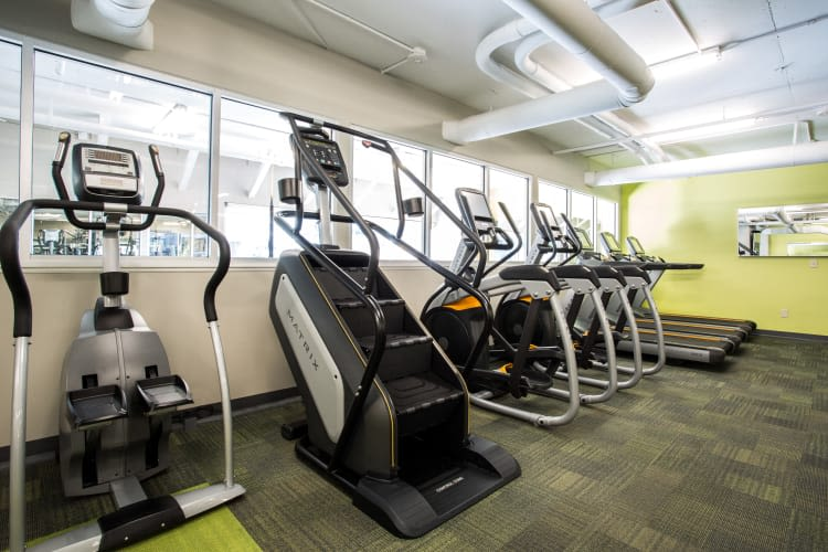 Treadmills and stairmaster at The Heights at Park Lane in Dallas, Texas