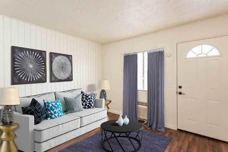 Beautiful living area at Brockport Landing in Brockport, New York