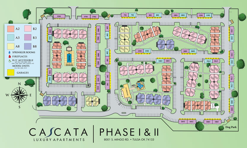 Site map for Cascata Apartments in Tulsa, Oklahoma