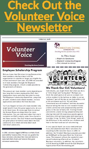 volunteer voice newsletter