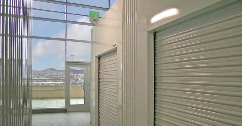 Indoor storage units at SOMA Self-Storage