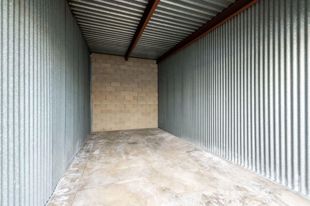 Inside a storage unit at Storage Etc... Diamond Bar in Diamond Bar, CA