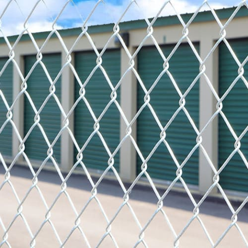 Fully fenced storage at Red Dot Storage in Sturtevant, Wisconsin