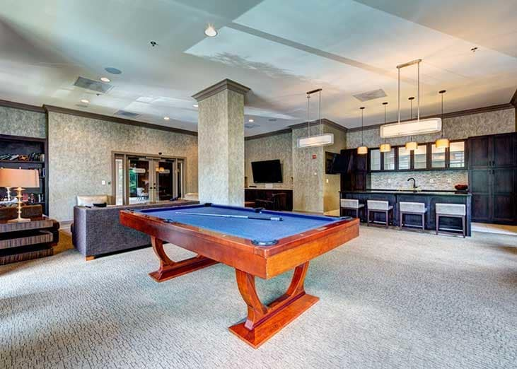 Practice your billiards game at The Eva