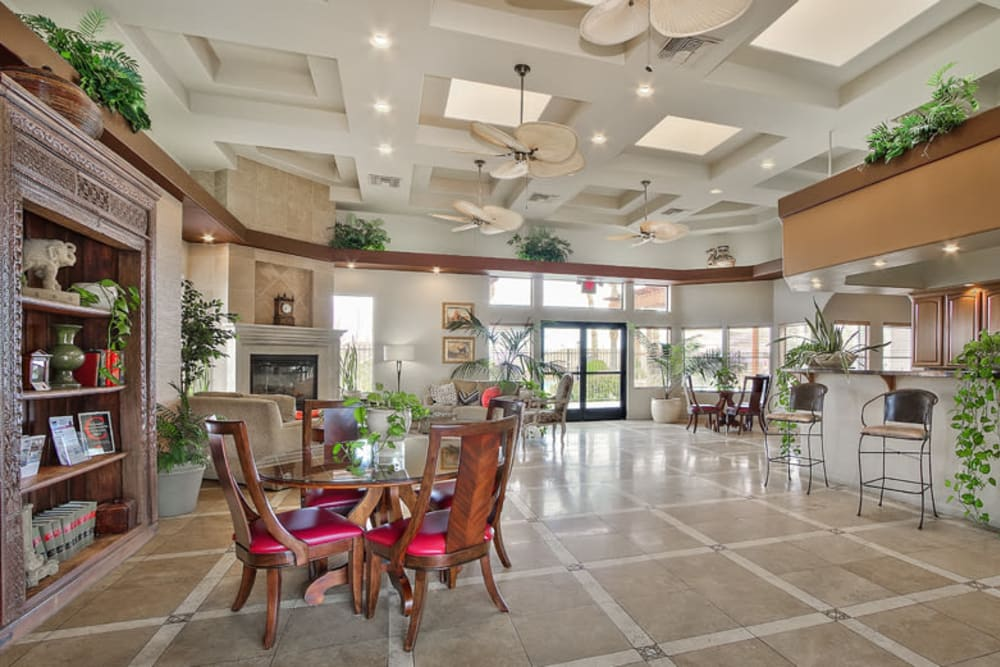 Spacious clubhouse at Cielo Apartment Homes in Henderson, Nevada