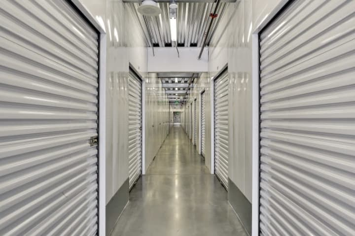 The view down an interior hallway at A-1 Self Storage on Senter Rd in San Jose, CA.