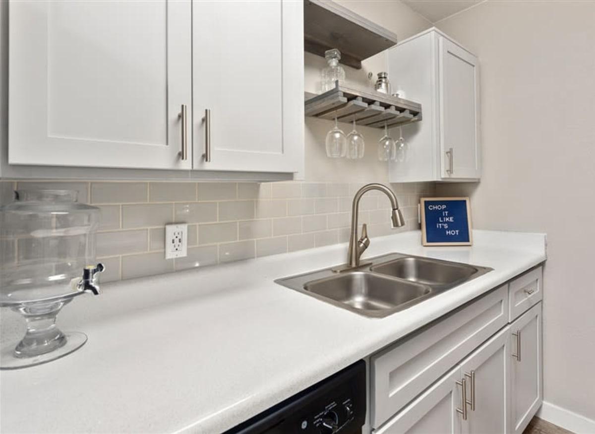 A sparkling white kitchen at 1408 Casitas at Palm Valley in Avondale, Arizona