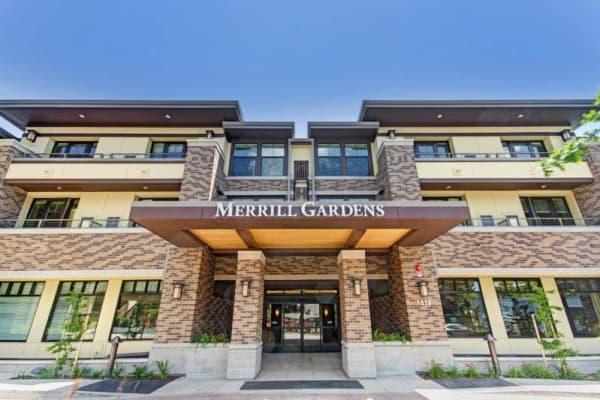 Beautiful exterior to senior living in Lafayette, California