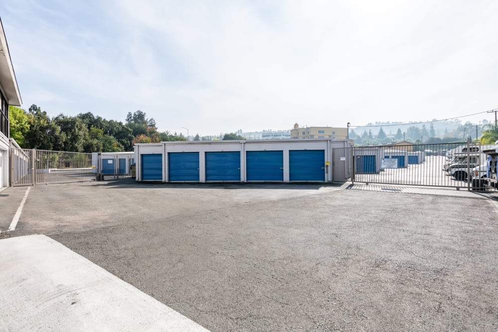 A row of storage units at Storage Etc... Diamond Bar in Diamond Bar, CA