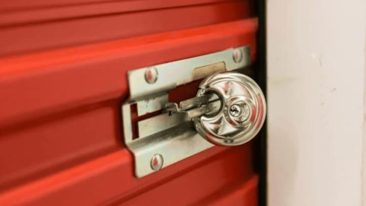 A self storage padlock