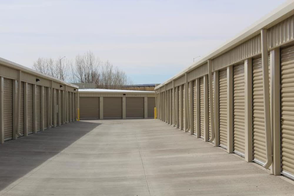 Self storage areas at Mesa Ridge Self Storage in Colorado Springs, Colorado
