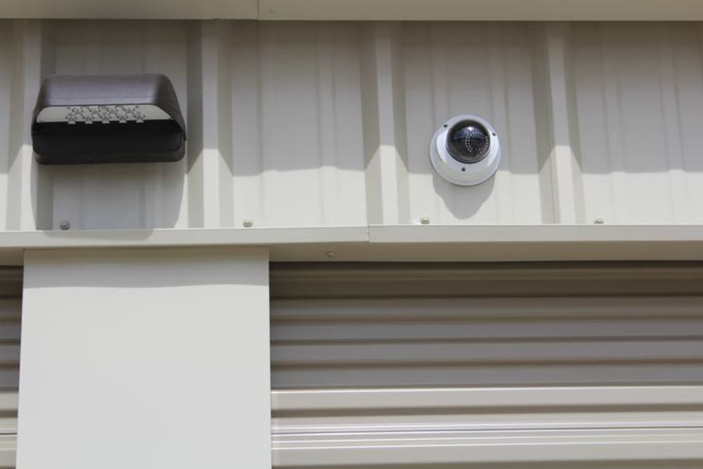 Security camera in self storage at Mesa Ridge Self Storage in Colorado Springs