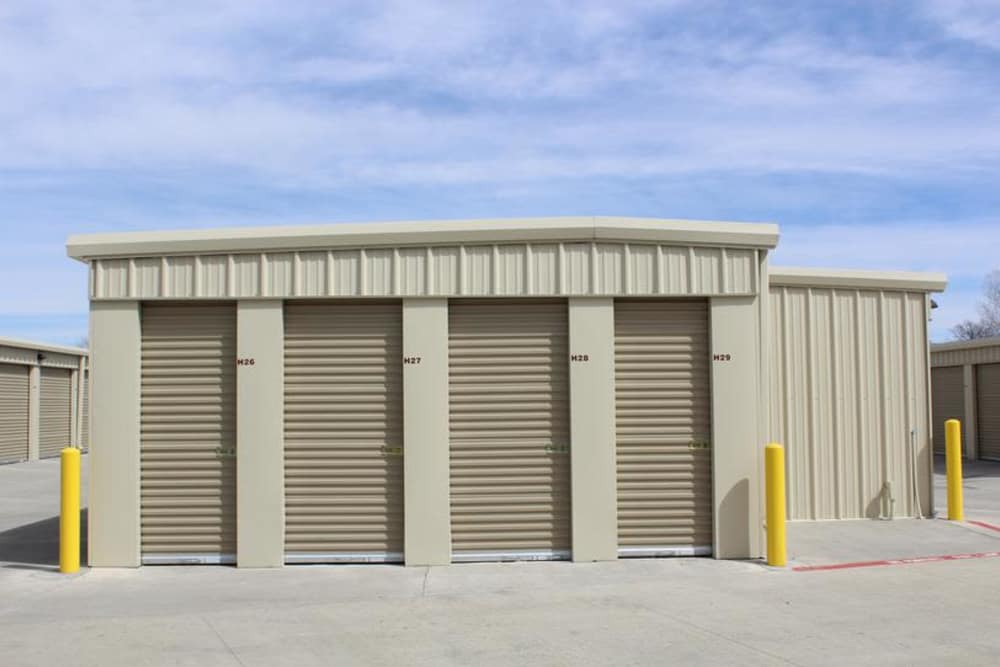 Exterior view of self storage unit at Mesa Ridge Self Storage