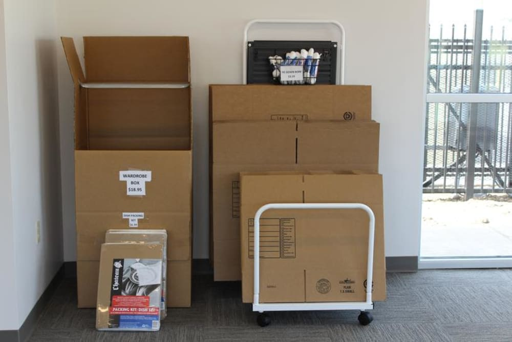 Storage supplies at Mesa Ridge Self Storage