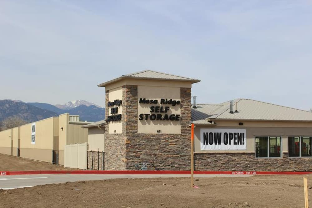Exterior view at Mesa Ridge Self Storage