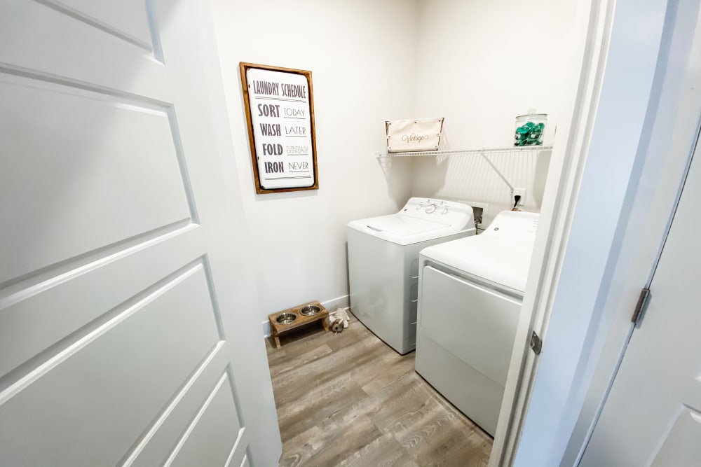 In-home washer and dryer at South City Apartments in Summerville, South Carolina
