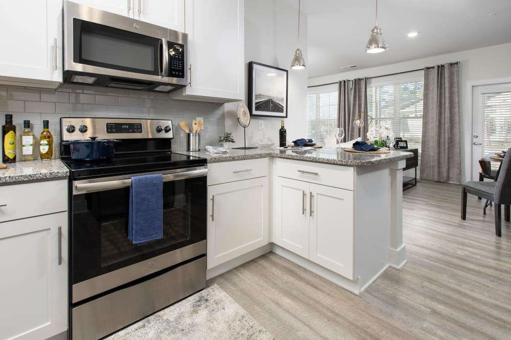 Model kitchen at South City Apartments in Summerville, South Carolina