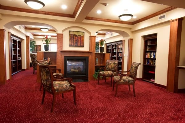 Community library at Cypress Springs Gracious Retirement Living in Bradenton, Florida